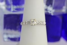 Vintage Platinum Diamond Engagement Ring by StoutPawnJewelry