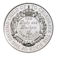 The silver proof £5 coin.