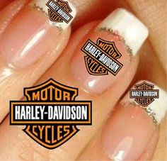 Harley Davidson Nail Art Stickers   eBay~just ordered mine for the HD 110th Anniversary