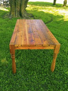 outdoor dining table from reclaimed wood