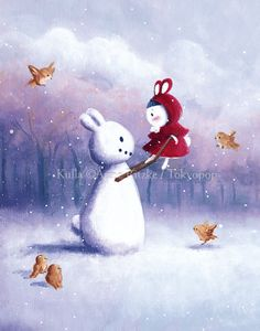 Will you be my snow bunny? by `trenchmaker on deviantART