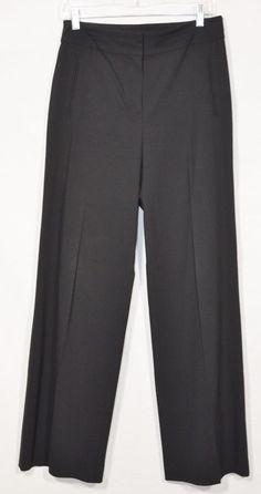 "ANN TAYLOR Black Dress Pants 6 32.5"" Inseam Flat Front Rayon/Cotton/Polyester #AnnTaylor #DressPants"