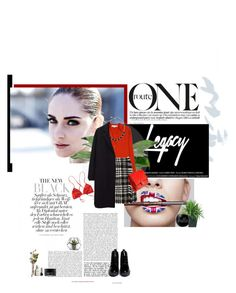 Red and Tweed by solespejismo on Polyvore featuring polyvore, fashion, style, STELLA McCARTNEY, The Row, Dolce&Gabbana, Patagonia, Opening Ceremony, Chanel, Monet, Koh Gen Do, Agave, Dot & Bo and Thrive