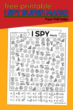 Use this I spy Super Mario themed activity for a fun and easy game for kids to play during some downtime at home or at school. Super Mario Birthday, Mario Birthday Party, First Birthday Parties, Printable Crafts, Party Printables, Free Printables, Easy Games For Kids, Party Themes, Party Ideas