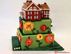 80th Farm House Birthday Cake by Pink Cake Box