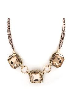 Arianna Necklace in Champagne Crystal