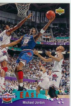 13e27265cac Michael Jordan 1992-93 Upper Deck All Star Basketball Card.  basketball   dansbasketball