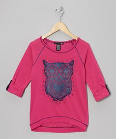 Relaxed yet fashion forward, this top has a contrast stitch and sequin-sparkled owl to create an edgy look that's right on trend.Self: 60% cotton / 40% polyesterContrast 1: 100% cottonContrast 2: 90% polyester / 10% spandexMachine wash; tumble dryIm...