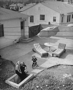 Fallout Shelter 1950...it looks like the bomb already dropped in that backyard..