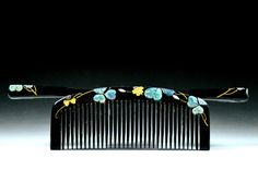Antique Kanzashi Raden - Antique Raden Hair Comb - Mother-Of-Pearl Kushi Kanzashi - Raden Kushi Kanzashi -  Kushi Hair Comb by JapaVintage on Etsy
