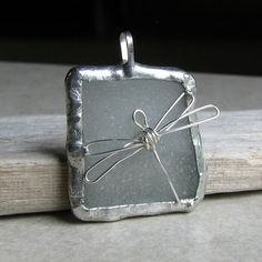 dragonfly and sea glass pendant - wonderful, affordable jewelry designs from AdroitJewelers on Etsy