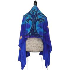 Blues-Tree of Life Silk Tallit Set