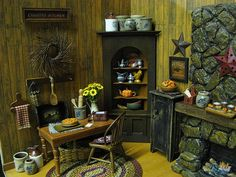 Miniature Dollhouse Primitive Country Kitchen by miniaturecabindecor, via Flickr