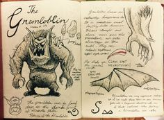 Gravity Falls Journal 3 Replica - Gremloblin page by leoflynn.deviantart.com on @DeviantArt
