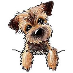 Pocket Border Terrier Throw Blanket by KiniArt - CafePress Border Terrier, Animal Drawings, Art Drawings, Dibujos Cute, Cartoon Dog, Dog Paintings, Pitbull Terrier, Terrier Dogs, Terrier Mix