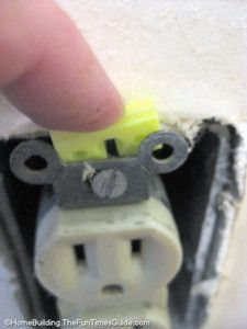 Spacers for outlet - pushes outlet forward to make it flush when installing beadboard.