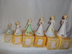 Growing Up Girls Enesco Figurines Lot Of 6 With by MemmoryAlley, $35.00
