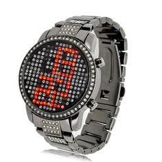 Red Crystal LED Watch -Ruby