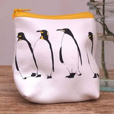 Penguins Soft Leather Purse