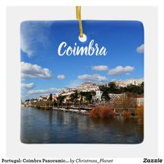 Coimbra City Portugal Flag Gold-tone Tie Clip Engraved Personalised