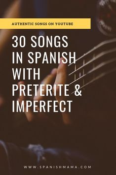 Authentic Spanish Songs with Preterite and Imperfect. Spanish music is a great way to provide input for past tenses, along with culture. Source by eealvarado Spanish Songs, Spanish Phrases, Spanish Vocabulary, Spanish Language Learning, Teaching Spanish, Spanish Classroom, Spanish Grammar, Spanish 1, Spanish Teacher