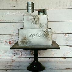 Welded Sheet Metal Cake  @JessieCakesNM @cakesdecor