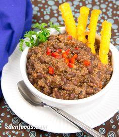 Chili with Polenta Sticks  #recipe #EdenFoods