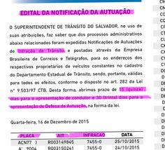 Edital SEMOB/TRANSALVADOR abre prazos para defesaserecursos contra multas de trânsito e indicação de real condutor infrator 74550 22.12.15 +http://brml.co/1myEUIL