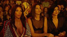 Pin for Later: 12 Celebrities Who Were Totally Unimpressed in 2014 Kim Kardashian and Kendall and Kylie Jenner