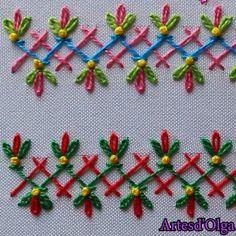 Bordado a Mano: Puntadas Decorativas 6 patterns afghan patterns crochet patterns afghan scarf blanket Hand Embroidery Patterns Flowers, Basic Embroidery Stitches, Hand Embroidery Videos, Embroidery Stitches Tutorial, Embroidery Flowers Pattern, Creative Embroidery, Simple Embroidery, Learn Embroidery, Hand Embroidery Designs