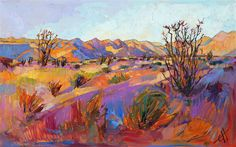 Borrego Springs landscape painting in sherbet colors, by Erin Hanson
