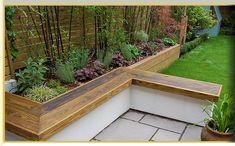 Raised Planter Bed & bench