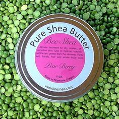 BEE SHEA's Pure Shea Butter, Lip Glosses, Balms, Soaps, Oil and more. Natural products made in Tillamook, Oregon. (O / USA)