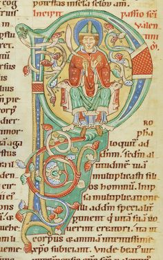 St Valentine- Codex Bodmer 127 042v Detail 1170-1200