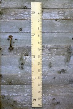 Modern Schoolhouse Wooden Ruler Growth Chart / by GrowthChartArt