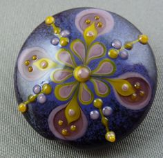 Victoria   Lampwork focal bead by Pixie Willow DesIgns