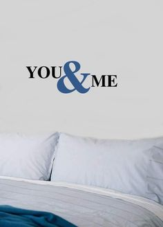 You & Me couples Bedroom Love Vinyl Wall lettering by TheBabyDolls, $24.99