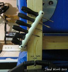 great screwdriver holder, pvc pipe, make, garage rack