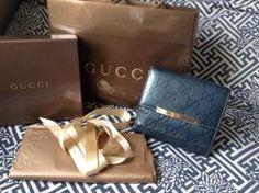 Available @ TrendTrunk.com Authentic Gucci Blue Guccisima Continental French Wallet Accessories. By Authentic Gucci Blue Guccisima Continental French Wallet. Only $128.00! Lust, Trunks, Gucci, French, Money, Purses, Wallet, Stuff To Buy, Gifts