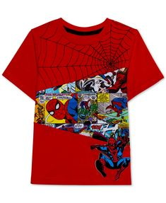 Marvel Little Boys Swingin' Spidey Graphic T-Shirt - Red 7 Boys T Shirts, Tee Shirts, Tees, Toddler Boys, Kids Boys, Kids Photography Boys, Disney Boys, Marvel Shirt, Kids Patterns