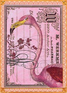 Pink Flamingo Card from PAPAYA!