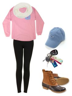 """Winter Beach Walk"" by zoeantonpeat ❤ liked on Polyvore featuring Topshop, GUESS by Marciano, L.L.Bean, Vineyard Vines, Lilly Pulitzer, preppy, Prep and southernprep"