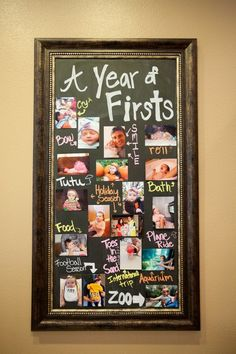 A baby's firsts within the 1st year picture frame!