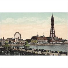 Blackpool from North Pier Lancashire Postcard (LAN70496) Listing in the Lancashire,England,Topographical,Postcards,Collectables Category on eBid United Kingdom