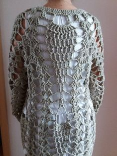 *This is a crochet pattern and not the finished item* I found pictures of this fantastic coat or duster and I fell in love with it. I was searching f Crochet Coat, Crochet Jacket, Crochet Cardigan, Crochet Yarn, Crochet Clothes, Crochet Hooks, Hippie Vintage, Diy Crafts Crochet, Coat Patterns