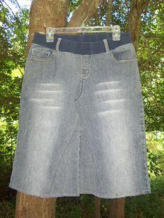 Maternity Jean Skirt