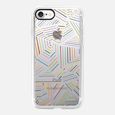 Ab Linear Rainbowz Transparent -  #casetifyiphone7 #iphone7 #geometric #abstract