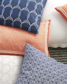 Summer fling. Punch things up with our new pillow designs. #serenaandlily