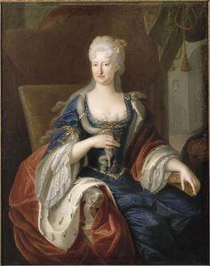 1715 Queen Maria-Anna of Spain, née Neuburg (married in 1690 to King Carlos II of Spain) by Robert Gabriel Gence (Musée Basque, Bayonne France)