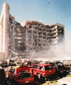 Oklahoma City Bombing, we were driving through OK city when this happened. I'll never forget this day.  It was the same day my dad died.